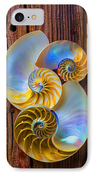 Abstract Chambered Nautilus IPhone Case by Garry Gay