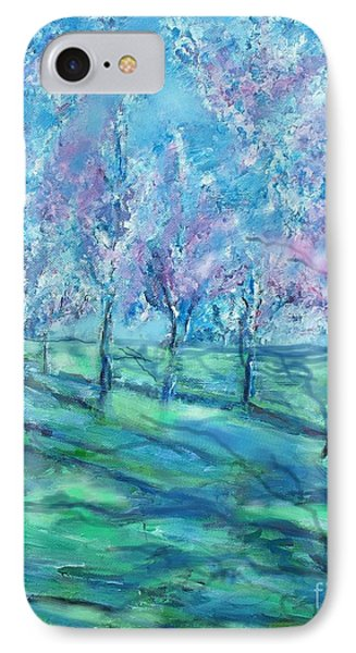 Abstract Cherry Trees Phone Case by Eric  Schiabor