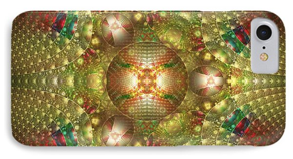 Abstract Christmas Card Phone Case by Sandy Keeton