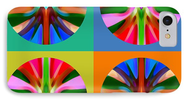 Abstract Circles And Squares 4 Phone Case by Amy Vangsgard