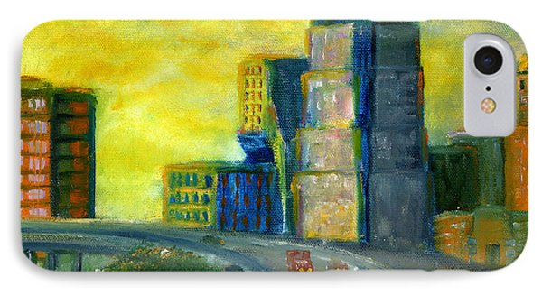 Abstract City Downtown Shreveport Louisiana IPhone Case