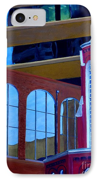 Abstract City Downtown Shreveport Louisiana Urban Buildings And Church Phone Case by Lenora  De Lude