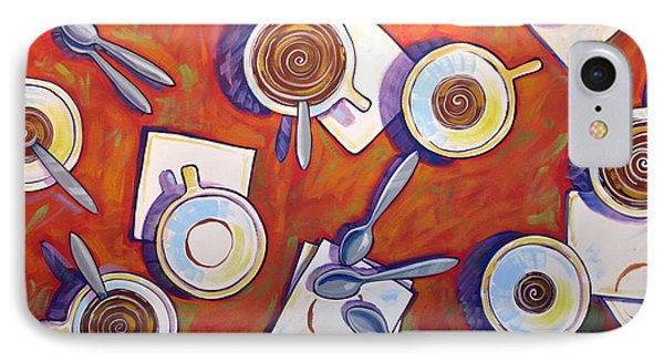 Abstract Coffee Art ... The Get Together IPhone Case by Amy Giacomelli