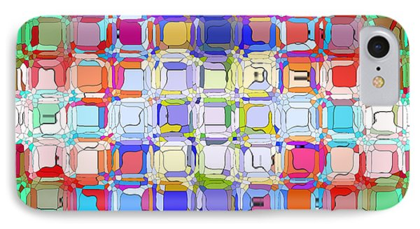 IPhone Case featuring the digital art Abstract Color Blocks by Anita Lewis