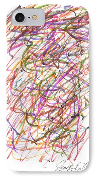 IPhone Case featuring the painting Abstract Confetti Celebration by Joseph Baril