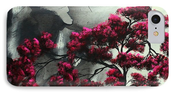 Abstract Contemporary Art Landscape Painting Modern Artwork Pink Passion By Madart Phone Case by Megan Duncanson