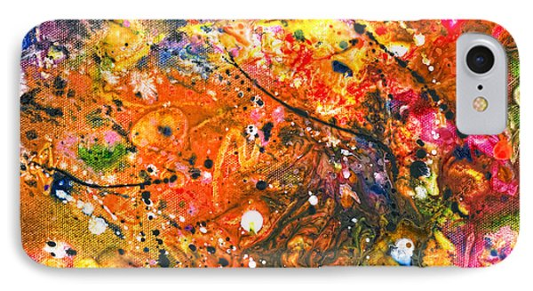 Abstract - Crayon - The Excitement Phone Case by Mike Savad