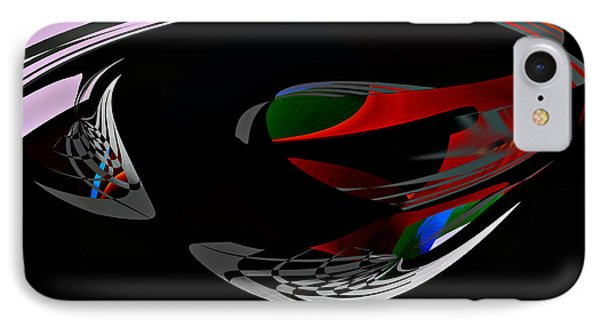 IPhone Case featuring the digital art Abstract - Dark No 1 by rd Erickson