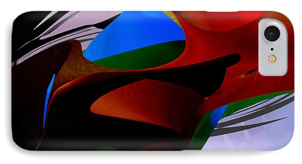 IPhone Case featuring the digital art Abstract - Dark No 2 by rd Erickson
