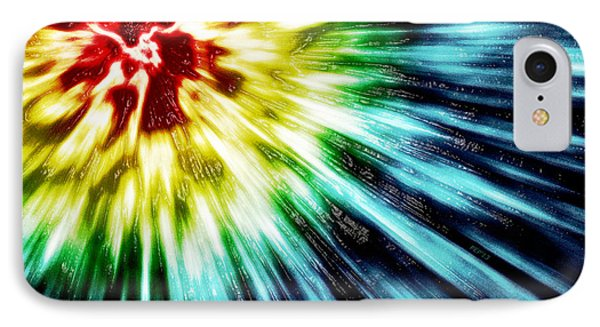 Abstract Dark Tie Dye IPhone Case by Phil Perkins