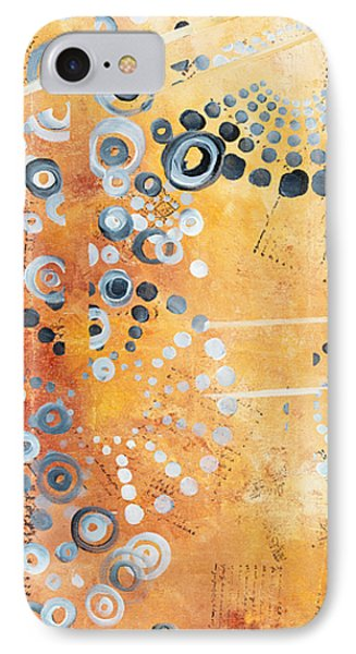 Abstract Decorative Art Original Circles Trendy Painting By Madart Studios IPhone Case