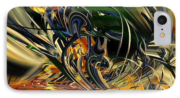 IPhone Case featuring the digital art Descent Into Hell - Abstract by rd Erickson