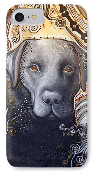 IPhone Case featuring the painting Abstract Dog Art Print ... Rudy by Amy Giacomelli