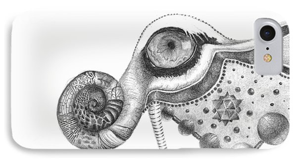 Abstract Drawing #2 - Tigerphant IPhone Case by J M Lister