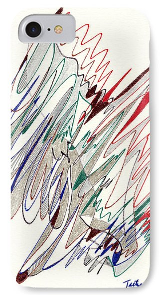 Abstract Drawing Fifty-one Phone Case by Lynne Taetzsch