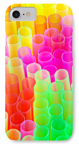 IPhone Case featuring the photograph Abstract Drinking Straws #2 by Meirion Matthias