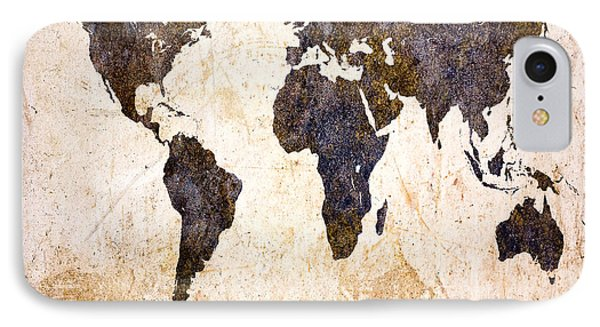 Abstract Earth Map Phone Case by Bob Orsillo