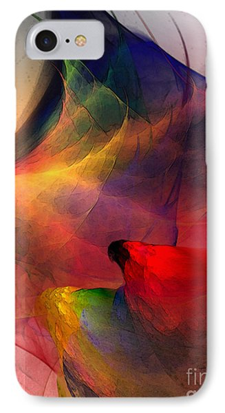 Abstract Exotic Birds IPhone Case by Karin Kuhlmann