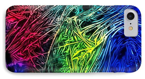 Abstract Experimental Chemiluminescent Photography IPhone Case by David Mckinney
