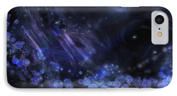 Abstract Fantasy In Black And Blue IPhone Case