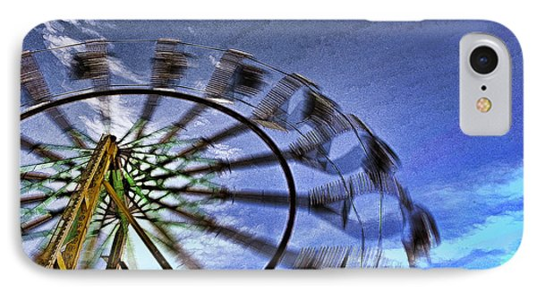 IPhone Case featuring the photograph Abstract Ferris Wheel by Linda Blair