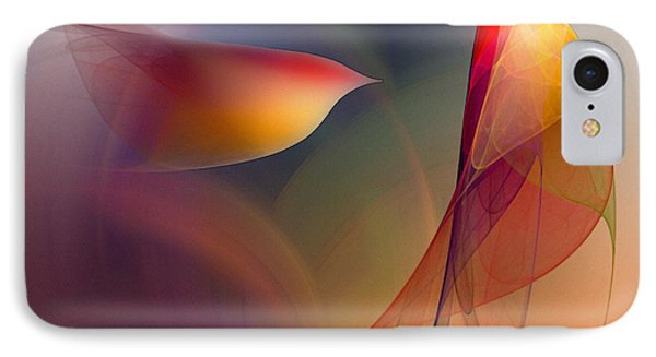 Abstract Fine Art Print Early In The Morning IPhone Case by Karin Kuhlmann