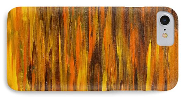 Abstract Fireside IPhone Case by Susan  Dimitrakopoulos
