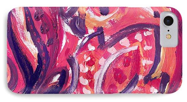 Abstract Floral Design Purple Note IPhone Case by Irina Sztukowski