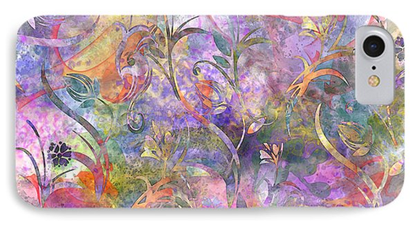 Abstract Floral Designe  Phone Case by Debbie Portwood