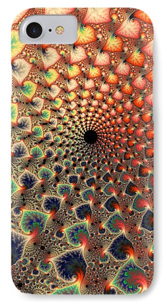 Abstract Floral Fractal Art Tall And Narrow Phone Case by Matthias Hauser