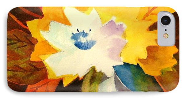 Abstract Flowers 2 IPhone Case by Marilyn Jacobson