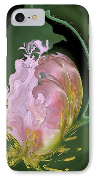 Abstract Flowers, Digitally Manipulated IPhone Case by Jaynes Gallery