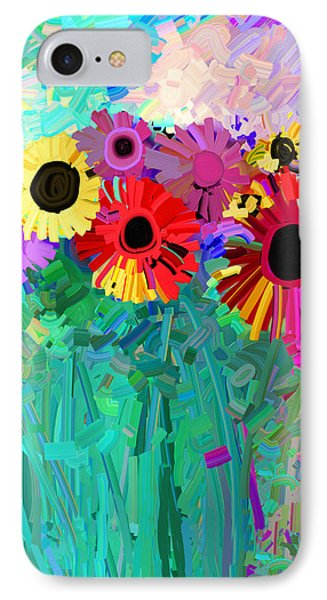 abstract - flowers- Flower Power Four Phone Case by Ann Powell