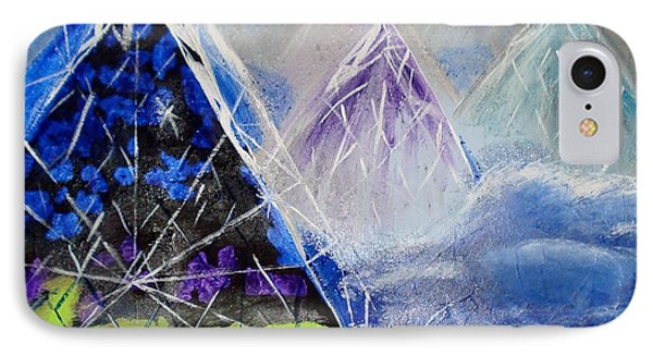 Abstract Glass Mountain IPhone Case