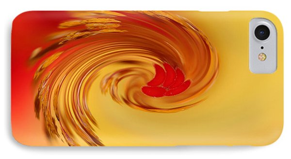 IPhone Case featuring the photograph Abstract Swirl Hibiscus Flower by Debbie Oppermann