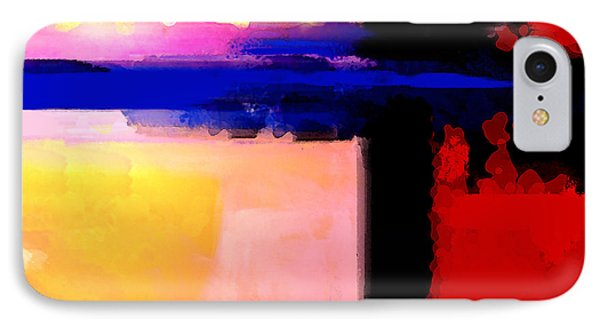 Abstract Impressions Of A Blue Horizon Phone Case by Karon Melillo DeVega