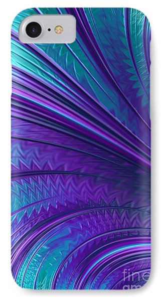 Abstract In Blue And Purple IPhone Case by John Edwards