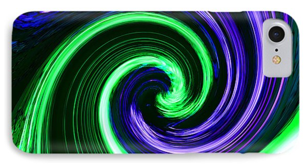 Abstract In Green And Purple Phone Case by Art Block Collections