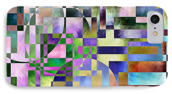 IPhone Case featuring the painting Abstract In Lavender by Curtiss Shaffer