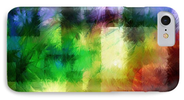 IPhone Case featuring the painting Abstract In Primary by Curtiss Shaffer