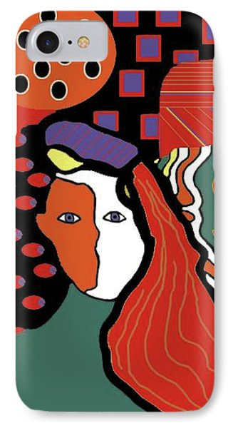 Abstract Lady IPhone Case