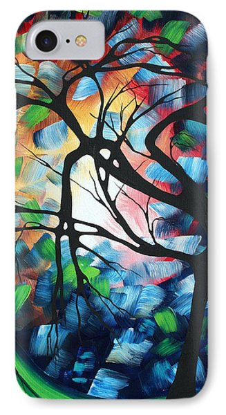 Abstract Landscape Art Original Colorful Painting Tree Maze By Madart Phone Case by Megan Duncanson