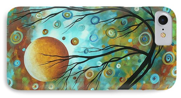 Abstract Landscape Circles Art Colorful Oversized Original Painting Pin Wheels In The Sky By Madart Phone Case by Megan Duncanson