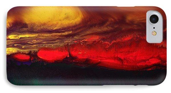 Abstract Landscape Fluid Art Dancing Sunset By Kredart  Phone Case by Serg Wiaderny