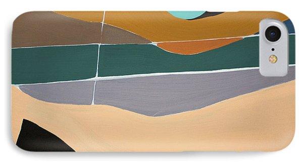 Abstract Landscape IPhone Case by Karen Nicholson