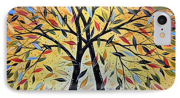 Abstract Landscape Modern Tree Art Painting ... New Day Dawning Phone Case by Amy Giacomelli