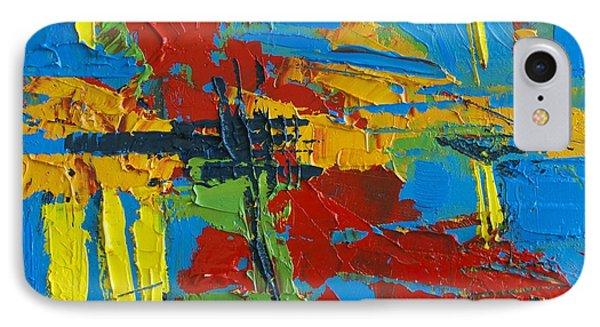 Abstract Landscape No 1 IPhone Case by Patricia Awapara