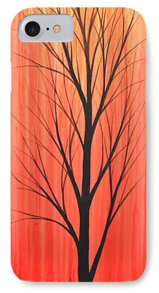 IPhone Case featuring the painting Abstract Landscape Original Trees Art Print Painting ... Twilight Trees #1 by Amy Giacomelli