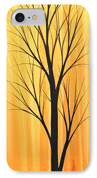 IPhone Case featuring the painting Abstract Landscape Original Trees Art Print Painting ... Twilight Trees #2 by Amy Giacomelli