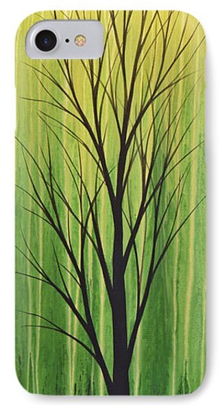 IPhone Case featuring the painting Abstract Landscape Original Trees Art Print Painting ... Twilight Trees #3 by Amy Giacomelli
